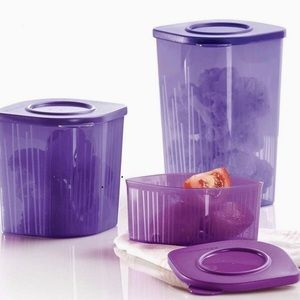 Tupperware Fresh N Cool Refrige Container Set of 3